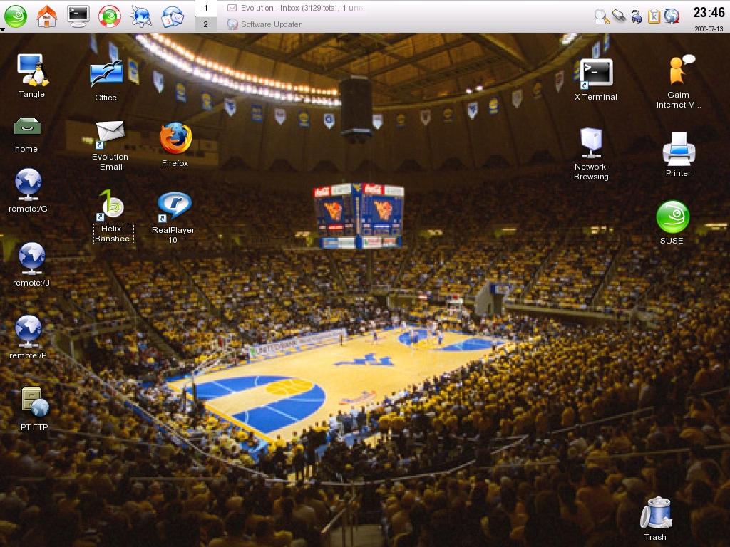 usual KDE desktop with